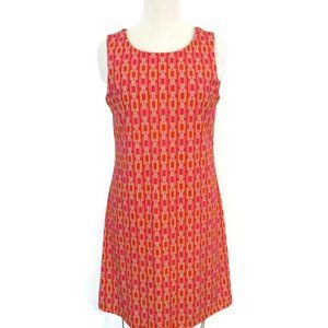 Jude Connally Orange Chain Stretch Dress Large